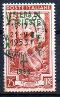 1950/3 Trieste - Italia Al Lavoro Soprastampati Su Una Riga 25 L - Nuovi
