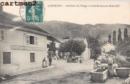 LANCRANS INTERIEUR DU VILLAGE ET CAFE RESTAURANT MALLEY CAISSE NATIONALE D'EPARGNE BANQUE 01 AIN - Non Classés