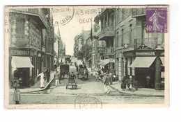 62 Berck Plage Rue De La Mer Cpa Carte Animée Pharmacie Pharmacien Ruin Oblitération Mecanique 1928 - Berck