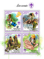 CENTRAL AFRICA 2019 - Scouts, Mushrooms. Official Issue - Funghi