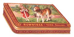 Trade Card Rowntree's Gift Box. The Chocolates Appear On The Lid. Alzando Il Coperchio Compaiono I Cioccolatini. - Chocolat