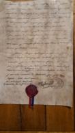 DOCUMENT FAC SIMILE NAPOLEON  12 PRIMAIRE AN 14 J'ETAI A LA BATAILLE D'AUSTERLITZ AVEC CACHET CIRE ET RUBAN - Manuscritos