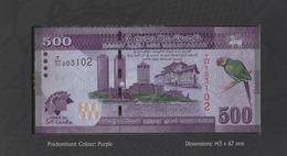 SRI LANKA 500 RUPEES 2013 P-NL UNC NUMISMATIC PRODUCTS W/ FOLDER [LKNP110a] - Sri Lanka