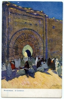 ARTIST : A.S. FORREST - MARRAKESH, A GATEWAY (TUCKS OILETTE) - Marrakesh