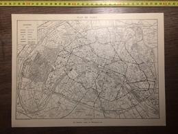 DOCUMENT 1897 PLAN DE PARIS NOUVEAU TRACE DU METROPOLITAIN MANIFESTATION DE CARMAUX - Vieux Papiers