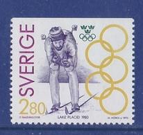 SKIING Skifahren OLYMPIC GOLD MEDAL LAKE PLACID WASSBERG  SWEDEN SUEDE SCHWEDEN 1992 MNH MI 1706 - Skiing