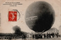 """1907 LORIENT Ascension Du Ballon """"Le Petit Parisien"""" - Montgolfières"""