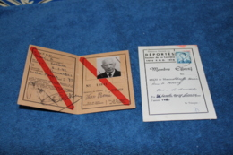 Carte D'ancien Combattant Belge De La Guerre 14-18 - Documents