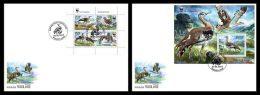 TOGO 2014 - WWF, Neotis Denhami M/S + S/S, 2 FDC. Official Issue - FDC