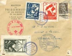 """1946 Exposition Philatélique """"PRISONNIER"""" Vignettes Et Cachets Spéciaux  RR - Expositions Philatéliques"""