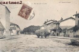 CHATILLON-SUR-CHALARONNE RUE DU DOS D'ANE ANIMEE ATTELAGE D'ANE !  01 AIN - Châtillon-sur-Chalaronne