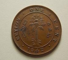 Ceylon 1 Cent 1942 2.3g Type (a Little Concave) - Sri Lanka