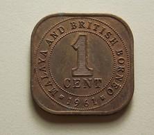 Malaya And British Borneo 1 Cent 1961 - Malaysie