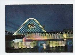 Belgique: Bruxelles, Exposition Universelle 1958, Façade Du Grand Palais Et Fontaines La Nuit (19-310) - Universal Exhibitions