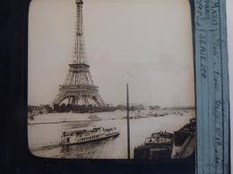 I62 - Plaque Photo - Positif - Paris - Tour Eiffel Et La Seine - N° 28 - Diapositiva Su Vetro