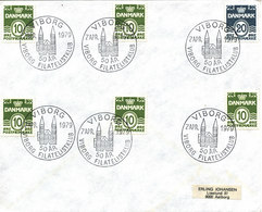 Denmark Cover Viborg Philatelistclub 50th Anniversary 7-4-1979 Nice Special Postmark - Denmark