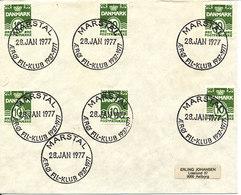 Denmark Cover Marstal Philatelistclub 40th Anniversary 28-7-1977 Nice Special Postmark - Denmark