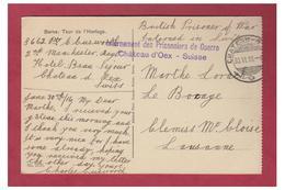 SUISSE--GUERRE 14/18 -WW1- INTERNEMENT DES PRISONNIERS BRITANNIQUES EN SUISSE -- CHATEAU D'OEX 1916 -- - Militaria