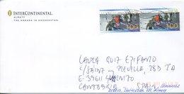 2011 KAZAKHASTAN. Circulated Cover To SPAIN. Soviet, URSS Stamps - Kazakhstan