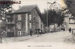 DON LA GRANDE ROUTE ET LA PLACE ANIMEE 01 AIN - Frankrijk