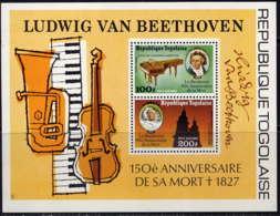 TOGO - BF103** - LUDWIG VAN BEETHOVEN - Togo (1960-...)