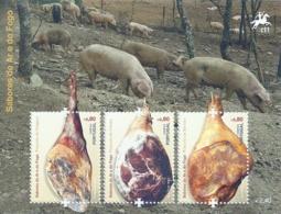 Portugal 2012 Sausages And Hams Souvenir Sheet MNH - Food
