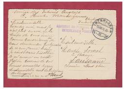 SUISSE--GUERRE 14/18 -WW1- INTERNEMENT DES PRISONNIERS BRITANNIQUES EN SUISSE --INTERLAKEN 1916 -- - Militaria