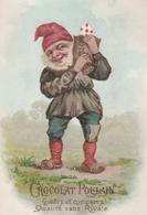CHROMO - Lutin / Gnome - Fabrique De Chocolats - Chocolat POULAIN - Poulain