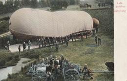 Rare Cpa Troupe Allemande Mise En Place D'un Ballon - 1914-18