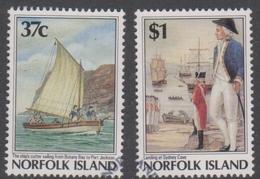 Norfolk Island ASC 425-426 1988 Bicentennial V Arrival First Fleet, Used - Norfolk Island
