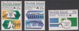 Norfolk Island ASC 437-439 1988 Sydpex 88, Mint Never Hinged - Norfolk Island