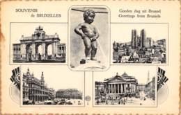BRUXELLES - Souvenir De BRUXELLES - Panoramische Zichten, Meerdere Zichten
