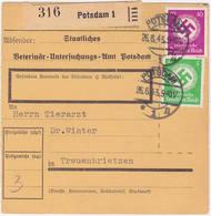Dt. Reich Dienst, Paketkarte Von Potsdam Nach Treuenbrietzen Mit Stempel V. 26.6.43 (R960) - Briefe U. Dokumente