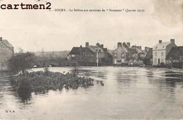 DUCEY LA SELUNE AUX ENVIRONS DU PAVEMENT JANVIER 1910 INONDATIONS MANCHE 50 - Ducey