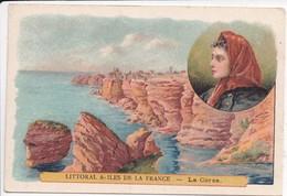 LITTORAL & ÎLES De La FRANCE - 20 La CORSE - Vue Falaises Et Coiffe - Image Publicitaire Laboratoires SERVIER Orléans - Non Classés