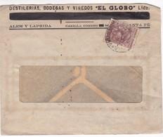 ENVELOPPE COMMERCIAL CIRCULEE SANTA FE 1945 ARGENTINE - BLEUP - Lettres & Documents
