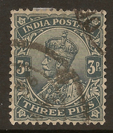 NDIA 1911 3p KGV Inverted Wmk SG 153a U BN42 - India (...-1947)