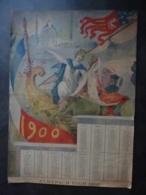 """ILLUSTRATEURS ALMANACH POUR 1900   CALENDRIER  Allegorie De L'exposition De Paris 1900- Signée Illustrateur """"LAMI"""" - Calendriers"""