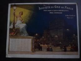 ALMANACH  1913  CALENDRIER  BUBLICITE Recto Verseau Société Du GAZ DE PARIS Allegorie Application Nouvelles Du GAZ S4 P - Calendriers