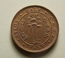 Ceylon 1/2 Cent 1937 - Sri Lanka