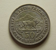 East Africa 50 Cents 1921 Silver - Colonie Britannique