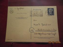 Entier Postal De 1951 De La DDR - DDR