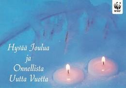 Postal Stationery - Winter Scene - Landscape - Candles - WWF Panda Logo - Suomi Finland - Postage Paid - Finlande