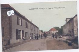MAMIROLLE- LA POSTE ET L HOTEL CARICAND- COLORISEE- RARE - France