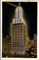 New York Buffalo Rand Building At Night 1930 - Buffalo
