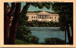 New York Buffalo Delaware Park Historical Building And Lake - Buffalo