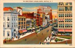 New York Buffalo Main Street Looking North 1945 - Buffalo