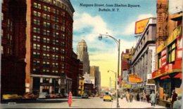 New York Buffalo Niagara Street From Shelton Square 1951 - Buffalo
