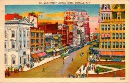 New York Buffalo Main Street Looking North 1946 - Buffalo