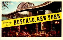 New York Buffalo Greetings - Buffalo